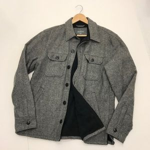 Like new! LLBean Lined Wool-Blend Shirt Jacket 🔥